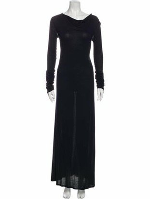 Rick Owens 2012 Long Dress Black