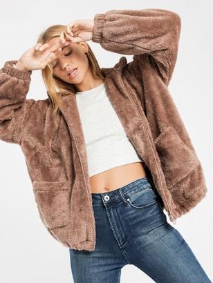 Beyond Her Mercy Sherpa Jacket in Brown