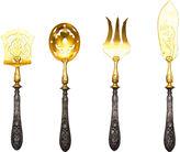 One Kings Lane Vintage Victorian Flatware Set w/ Absinthe Spoon