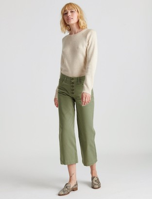 Lucky Brand Mid Rise Crop Wide Leg Jean