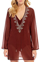 Antonio Melani Solid Beaded Tunic