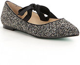 Betsey Johnson Blue by Glitter Tie Lia Flats