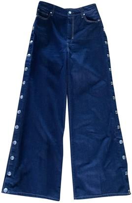 Sportmax Navy Cotton Jeans for Women