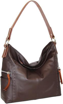 Nino Bossi Handbags Women's Hobos Chocolate - Chocolate Leather Kyah Hobo Bag