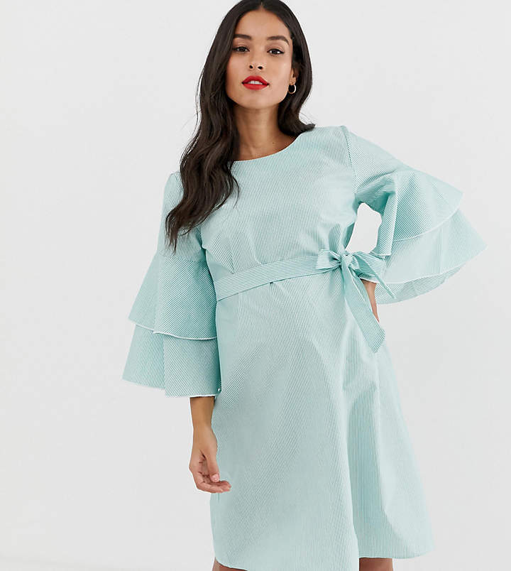 3f01ba5a579 Asos Stripe Maternity Dress - ShopStyle