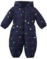 Stella McCartney Navy Puddle Foil Stars Snowsuit