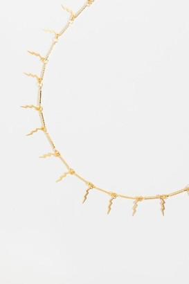 francesca's Tesse Lighting Bolt Necklace - Gold