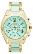 Geneva Platinum Women's Color-Pop Two-Tone Link Watch