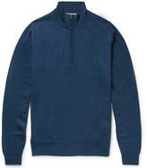 John Smedley Tapton Merino Wool Half-Zip Sweater