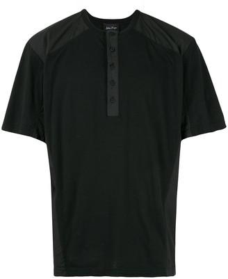 button-placket T-shirt
