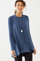 J. Jill Wearever Ultrafine Curved-Hem Jacket