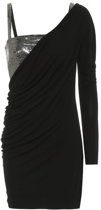 Philosophy di Lorenzo Serafini Embellished stretch-jersey minidress