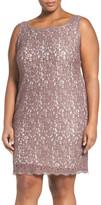 Adrianna Papell Sleeveless Lace Dress (Plus Size)