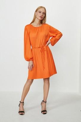 Coast Slash Neck Plisse Dress