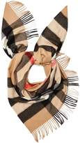 Burberry House-checked cashmere bandana scarf