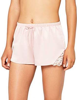 Iris & Lilly Women's Lace Detail Pyjama Shorts,Medium