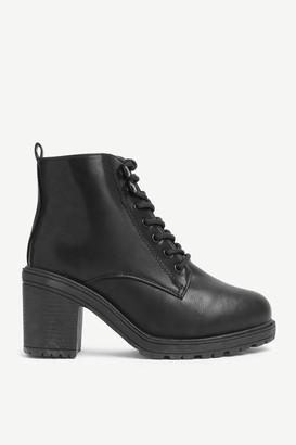 Ardene Block Heel Combat Boots