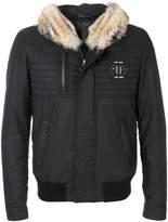 Philipp Plein fox fur hooded coat