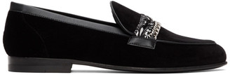 Amiri Black Velvet Bandana Chain Loafers