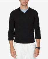 Nautica Men's V-Neck Solid Sweater