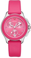 Michele Women's 'Cape' Topaz Dial Silicone Strap Watch, 34Mm