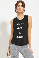 Forever 21 Active Race Graphic Muscle Tee