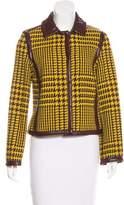Philosophy di Alberta Ferretti Faux-Leather Patterned Jacket