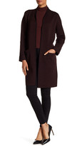 Theory Armelle J Evian Drape Front Wool Blend Sweater Coat
