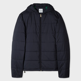 Paul Smith Men's Navy Lightweight Wadded Hooded Jacket