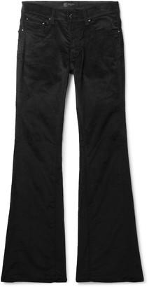 Amiri Stack Skinny-Fit Flared Cotton-Blend Velvet Trousers