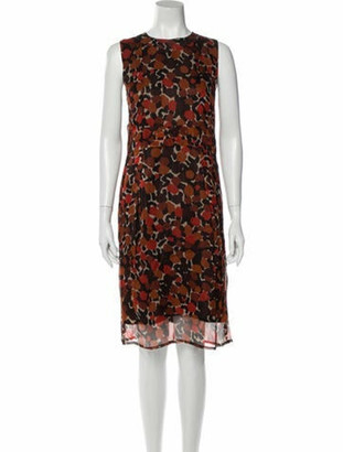 Burberry Silk Midi Length Dress w/ Tags Brown