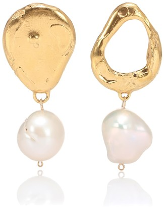 Alighieri The Infernal Storm 24kt gold-plated and pearl earrings