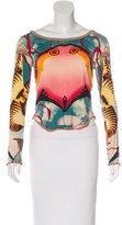 Jean Paul Gaultier Abstract Print Long Sleeve Top