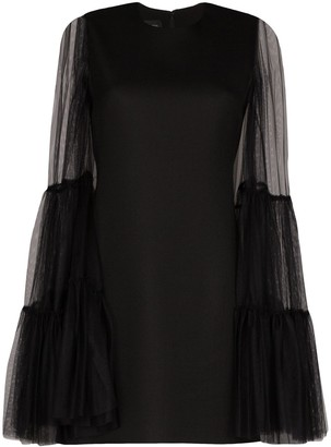 Giambattista Valli Tulle Sleeve Mini Dress