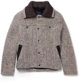 Craig Green Contrast-trimmed Mélange Wool-blend Jacket - Brown
