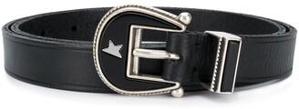 Golden Goose Buckle-Fastening Leather Belt