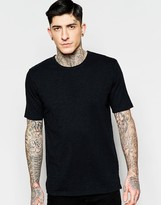 Minimum T-Shirt In Slub Cotton In Black
