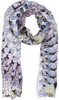 Allude Multicolor Paisley Scarf w/ Tags
