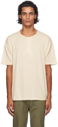 Visvim Off-White Jumbo Short Sleeve Henley