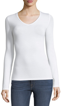 Majestic Filatures Soft Touch Long-Sleeve V-Neck Tee