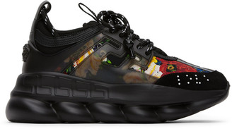 Versace SSENSE Exclusive Black Printed Chain Reaction Sneakers