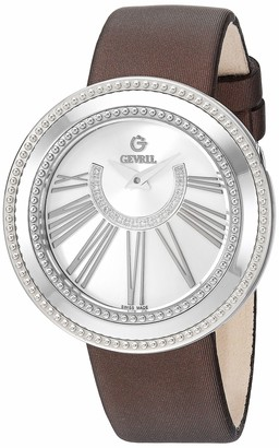 Gevril Women's Fifth Avenue Stainless Steel Swiss Quartz Watch with Satin Strap