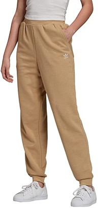 adidas Trefoil Cuffed Pants (Linen Khaki) Women's Workout