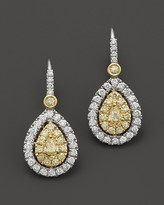 Bloomingdale's Natural Yellow Diamond Pear Shaped Earrings in 18K Yellow and White Gold, 1.05 ct. t.w.