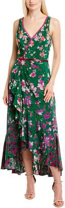 Marchesa Crepe De Chine Midi Dress