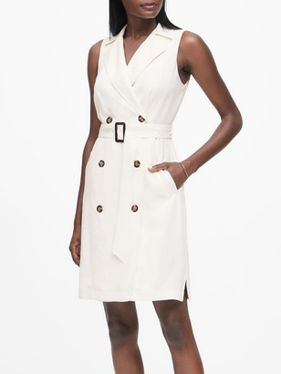 Banana Republic Petite Double-Breasted Trench Dress