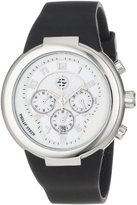 Philip Stein Teslar Unisex 32-AW-RBB Active White and Black Chronograph Rubber Strap Watch