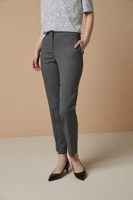 Next Womens Grey Marl Tailored Slim Trousers - Grey