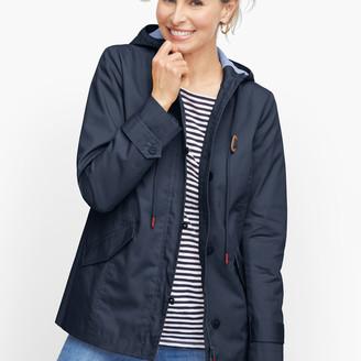 Talbots Coated Cotton Rain Jacket