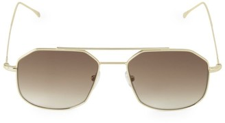 Illesteva Montevideo 53MM Browline Aviator Sunglasses